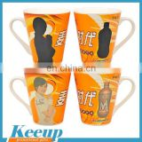 Special Horn Shape Dye Sublimation Mugs with Custom Logo Wholesale for Advertising