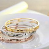 Gold Rose Gold Silver PVD Plating Simple Design Stainless Steel Bracelet Armbånd Esposas