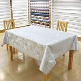 Luxurious silver plated with 100% cotton back table linen,soft textile with 137cm*20m/roll