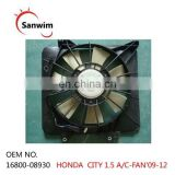 HON-DA C-IT-Y 1.5 A/C Condenser Fan With Motor Assembly 2009-2012 OM16800-08930