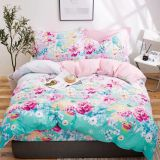 100% polyester fabric pigment Printing bedsheet microfiber woven fabric for home textile microfiber bedding set
