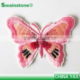 W0511 butterfly embroidery applique,embroidery applique butterfly,embroidery butterfly applique for clothes cap garment