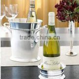 Silver Ice Bucket, Wine Cooler With Handle, Bulk Ice Buckets And Bottle Holder