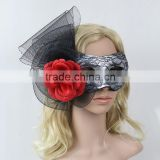Hot Sale Flower Decorate With Mesh Halloween Party Half Face Masks Masquerade