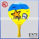 popular custom 2015 TOP QUALITY outdoor Wooden Beach tennis racket /beach bat /beach paddle set with beach ball wholesale