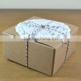 4 x 4 x 2 inch Kraft box for gift and packaging                                                                         Quality Choice