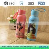Fashion 320ml Pyrex glass tea cup cute baby or student water bottle