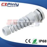 IP68 Black NPT 1/2 Cable Gland With Strain Relief
