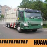 HOWO Refuse Garbage Compactor Truck Waste station