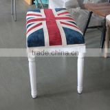 Y-1469 Upholstered Union Jack Bench For Indoor Decor