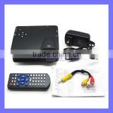 HD Multimedia Mini Home 640 x 480 Resolution Support AV/VGA/SD/USB/HDMI 100TV LED Projector
