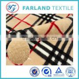 plaid flannel fleece blanket fabric winter essential warm bedding set raw material