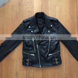 custom men fashion leather jacket brands wholesale