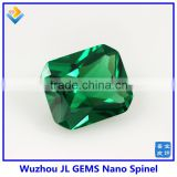 Synthetic Octagon Cut Emerald green Nano Spinel stone price