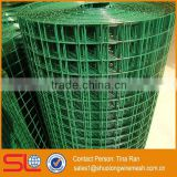 "Hebei Shuolong supply 0.914mx30m 1""x1"" square green plastic coating wire mesh for aviary wire netting"