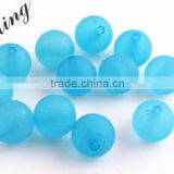 Turquoise Color Wholesales Cheapest Fashion 6MM to 14MM Acrylic Transparent Matte Frost Beads for Kids Jewelry Necklace Making