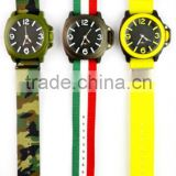 High quality army style men's watch, militarty nylon strap watch, 3D dial innovation design army watch