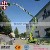 18m height trailer mounted floating swim cleaning boom lift platforms