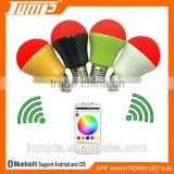 Popular beautiful color changing smart bluetooth light E27 APP LED bulb 5W