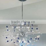Violet Crystal Chandelier Lights Pendant Lamp LED Modern Design Lamps Restaurant Hanging Light CZ9028/30V