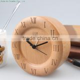 Creative wooden quartz clock