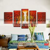 Wholesale room scenery painting abstract interior design