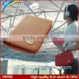 Wholesale short business model bifold travelus passport cover Prevent demagnetization with card holder