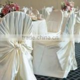 cheap and fashionable wholesale satin self-wraped chair cover for wedding banquet