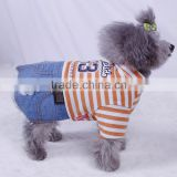 orange new design spring summer denim dog skirts dog cotton and water cowboy denim skirts dog apparels