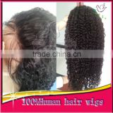 Brazilian Virgin Human Hair Full Lace Wigs Kinky Curly Lace Front Wigs With Natural Hairline Baby Hair For Black Women