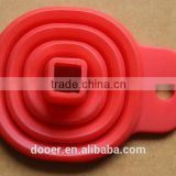 silicone rubber collapsible funnel