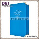 2014 hot sale pvc leather restaurant classic Menu Covers / clear plastic menu holder / menu book