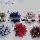 artificial silk flowers as clothes brooches