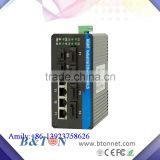 4Fibers 1000M Managed 2Ports SFP Managed Industrial IP40 Fiber to 4 Ports RJ45 Fiber Optical Switch
