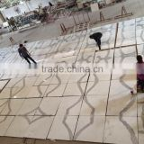 Chinese book matched white calacatta marble tiles