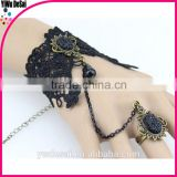 women bracelet Dark ruby lace female bracelet with ring fashion bracelet