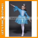 New 2016 Frozen Costume Elsa Girl Princess Party Dress Lace Baby Dress For 3-7 Years Elsa Costume PGT-0190