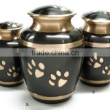 Pet Urn Cremation urns metal urns with paw print
