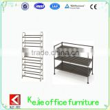 Professional display shoe rack pull out shoe rack designs waterproof cover plastic metal shoe rack with CE certificate