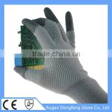 Factory Price Antistatic PVC Dotted PU Fingertips Coated Cleanroom ESD Safety Work Gloves For Labour