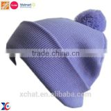 Passed Sedex testing colorful pom bobble hat, warm knitted winter hat,fashion hip hop hat