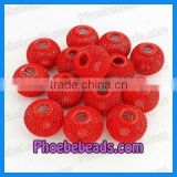 Red Basketball Wives Mesh Beads Balls (PMB-008)