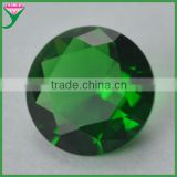 Sell stock bulk emerald green faceted round brilliant cut glass gems for crafts