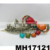 antique crystal metal bow metal hair clips