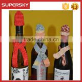 A-837 Christmas Party Wine Bottle Gift Wrap Crochet Wine Bottle Cover Set Christmas Knitting Table Wine Botle Decor