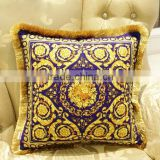 2015 new design hot sale fringing tassel handmade luxury printed sofa cushion