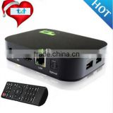 100% Real Factory Original KODI 4K 3D Android 4.4 IPTV Box without Dish Satellite TV Receiver