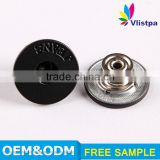 China manufacture anti brass hot sale black nickel metal jeans button