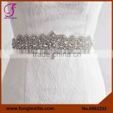 FUNG 8002233 Wedding Accessory Crystral Rhineston Belt Sash, Bride Rhinestone Sash                                                                         Quality Choice