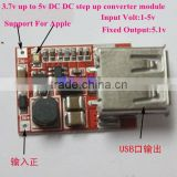 DC to DC 3.7V to 5V Converter Step-Up Power Supply Module for lithium battery charger, Solar Energy ,MP3MP4,Iphone,etc.